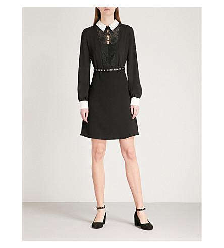 THE KOOPLES Lace-trim crepe dress (Bla01