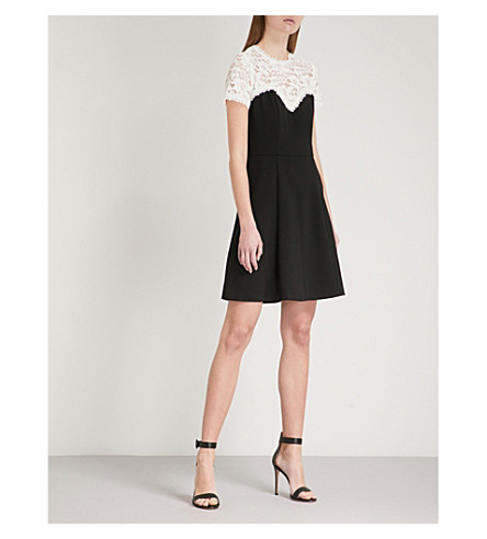 THE KOOPLES Sweetheart lace and crepe dress (Bla06