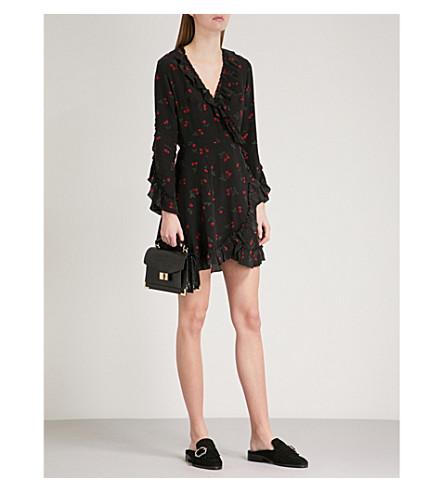 THE KOOPLES Cherry-print silk dress (Bla01