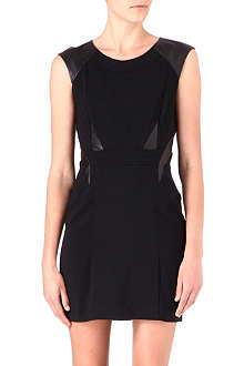 THE KOOPLES Leather-panel dress