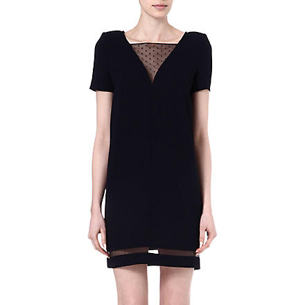THE KOOPLES Sheer trim dress (Dark navy / black