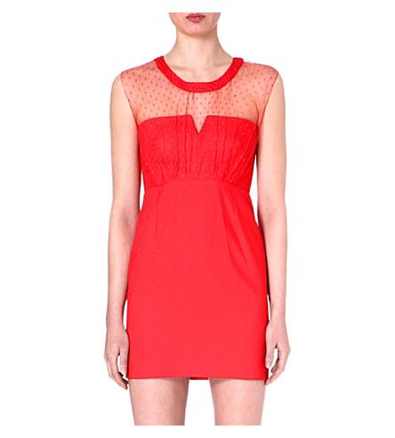 THE KOOPLES Cotton-blend mini dress (Red