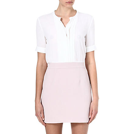 THE KOOPLES Crepe shirt dress (Ecru / beige rose