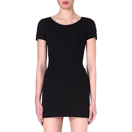 THE KOOPLES Brocade jacquard mini dress (Black