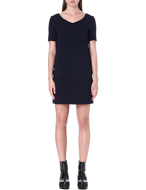 THE KOOPLES Short sleeve crepe dress
