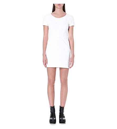 THE KOOPLES Jacquard print dress (Ecru