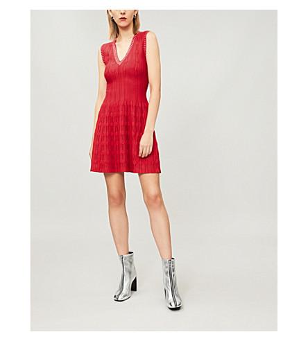 THE KOOPLES Stud-embellished knitted dress (Red01