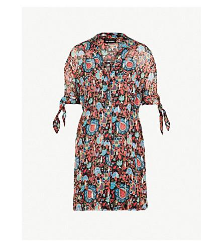 THE KOOPLES 印花真丝混纺连衣裙 (Bla01