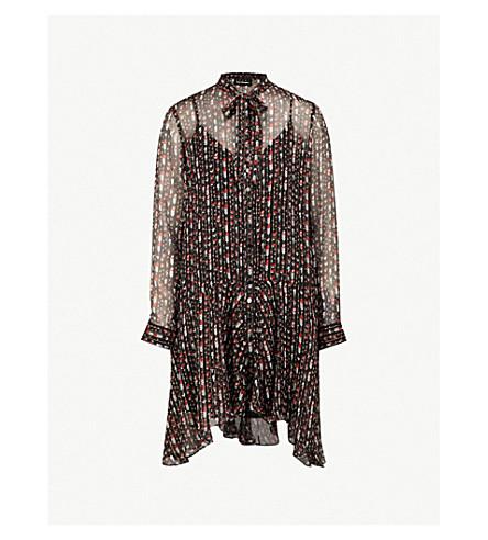 THE KOOPLES The Kooples Sport silk-blend dress (Bla01