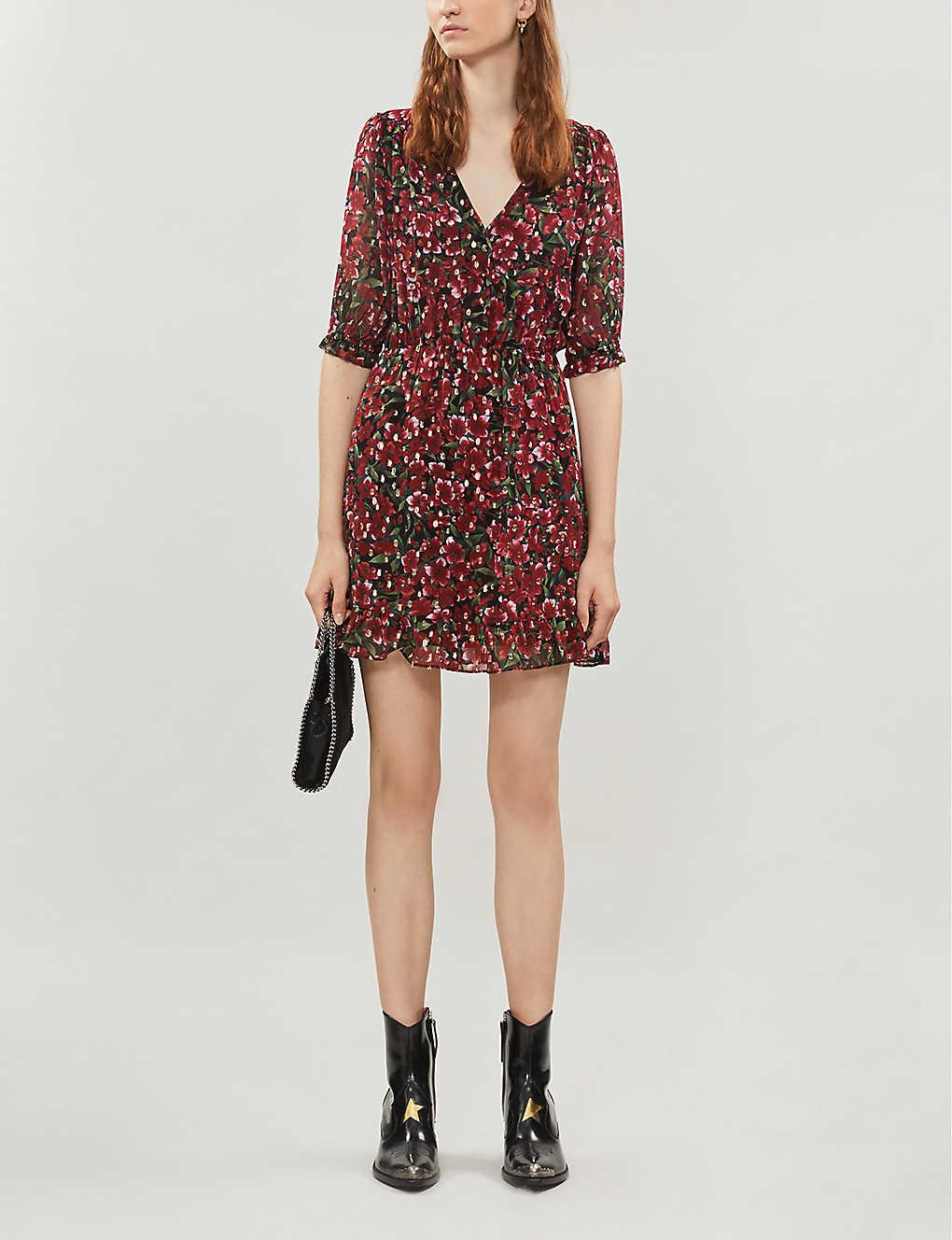 Floral-pattern chiffon dress(8081251)