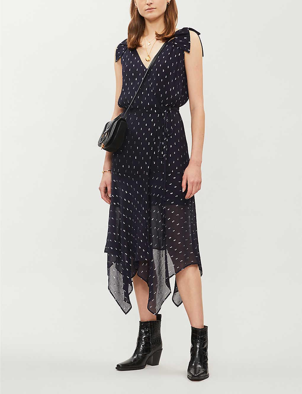 Polka dot-print fil-coupé maxi dress(8082753)
