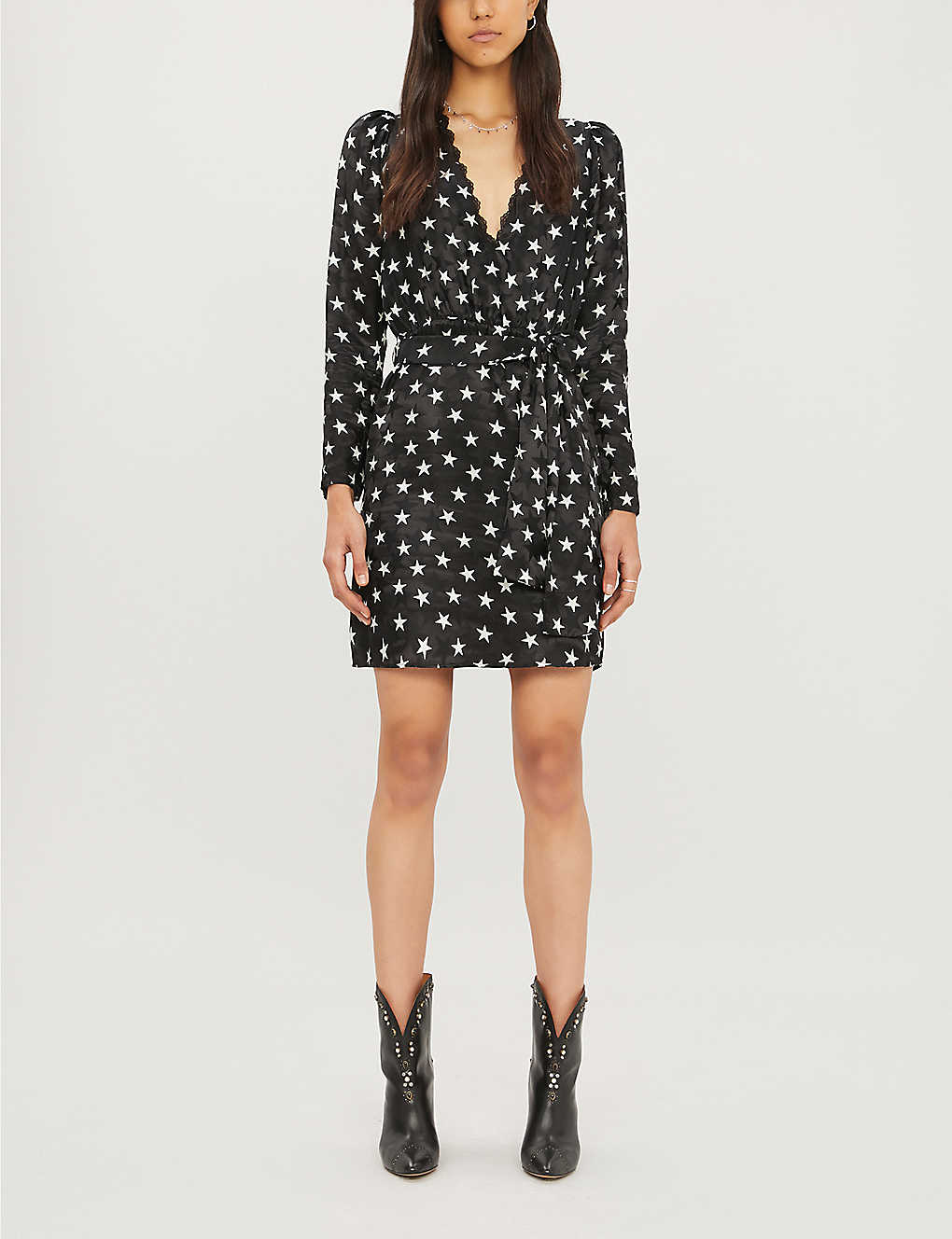 Star-print mini dress(8083894)