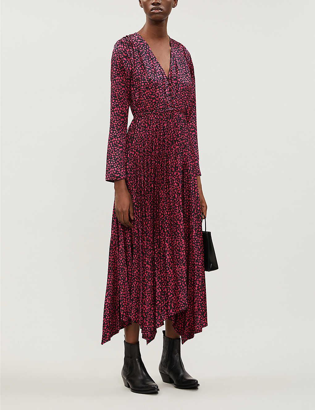 Ditsy-floral print twill midi dress(8085260)