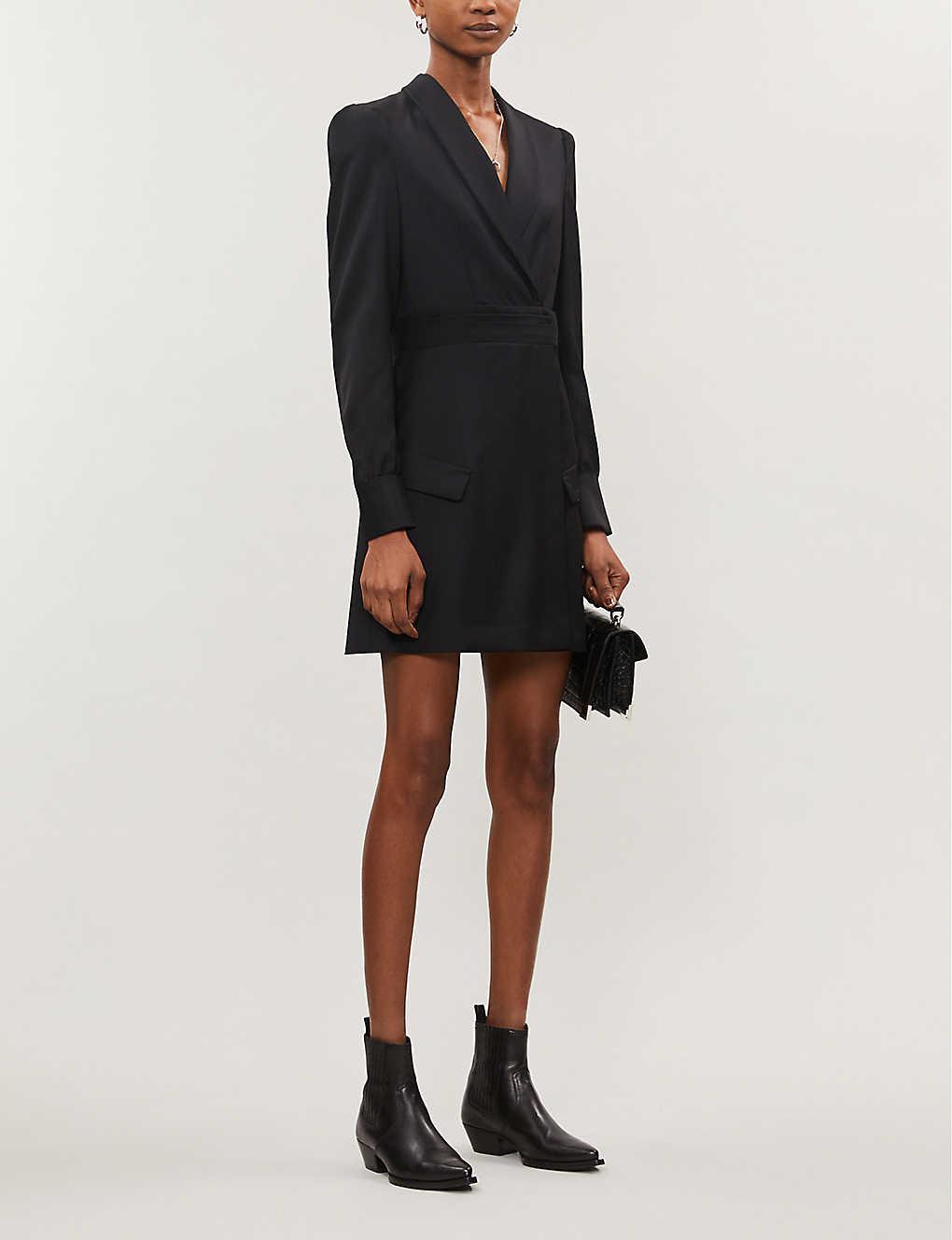 Blazer-style wool mini dress(8086445)