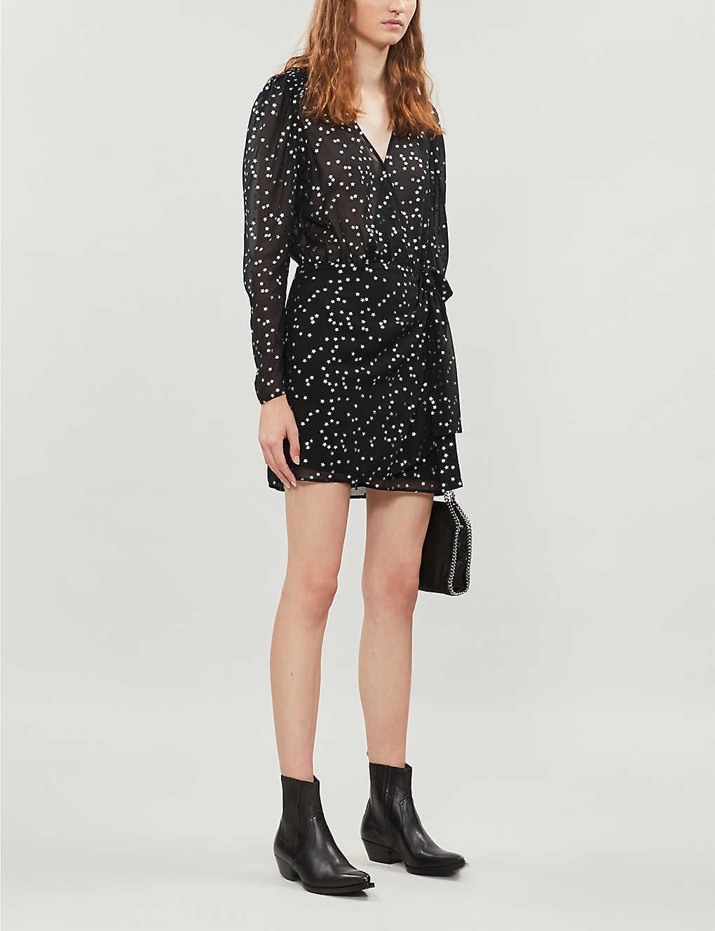 Star-print crepe dress(8086563)