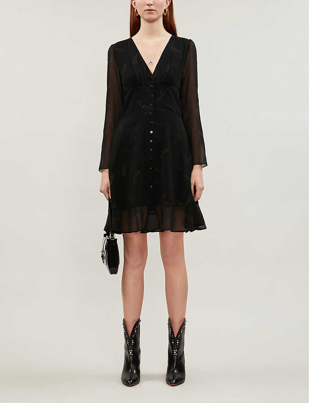 Paisley print crepe dress(8087590)