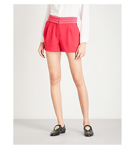 THE KOOPLES Pleated-detail crepe shorts (Pin74