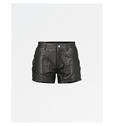 THE KOOPLES High-waist leather shorts (Bla01
