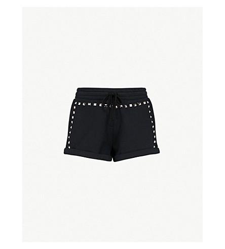 THE KOOPLES 铆钉缀饰平纹针织棉短裤 (Bla01