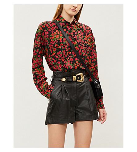 THE KOOPLES 系腰带皮革短裤 (Bla01