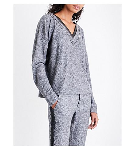 THE KOOPLES SPORT Bobble Braid cotton-blend sweatshirt (Gry23