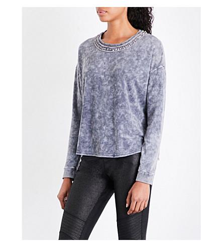 THE KOOPLES Jewelled jersey sweatshirt (Gry01