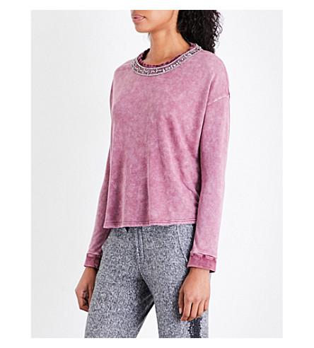 THE KOOPLES Jewelled jersey sweatshirt (Pur13