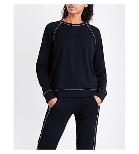 THE KOOPLES Black hooded sweatshirt with jewelled br (Bla01