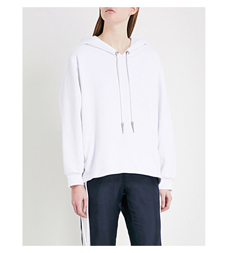 THE KOOPLES Laced stretch-cotton hoody (Bla00