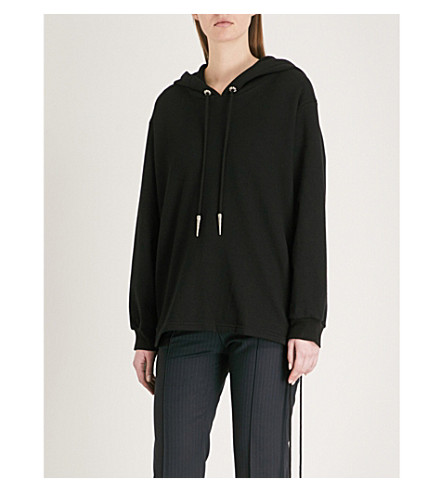 THE KOOPLES Laced-detail cotton-jersey hoody (Bla01