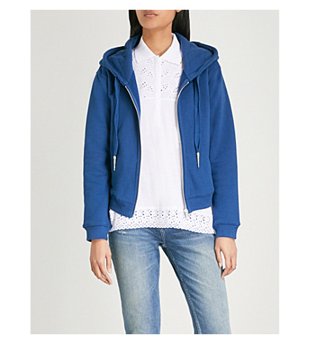 THE KOOPLES Embroidered cotton-jersey hoody (Blu01
