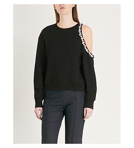 THE KOOPLES Embellished cotton-jersey sweatshirt (Bla01