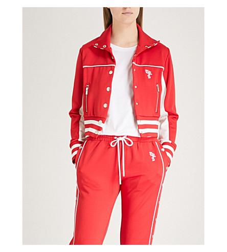 THE KOOPLES Striped-trim jersey jacket (Red01