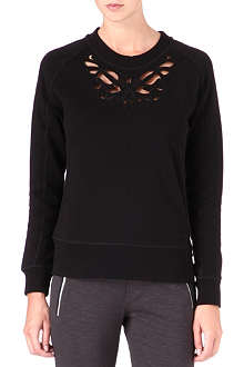 THE KOOPLES SPORT Baroque laser-cut jumper