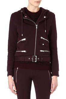 THE KOOPLES SPORT Jersey biker hoody