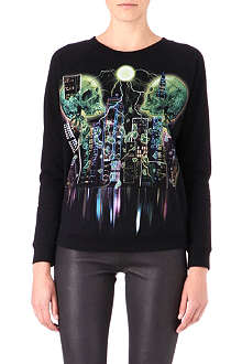 THE KOOPLES Neon Skullhead jumper