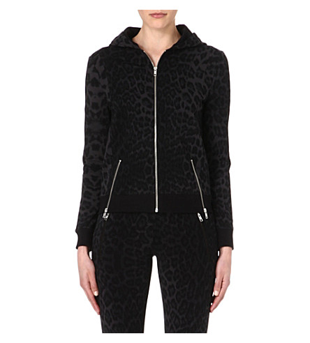 THE KOOPLES SPORT Jacquard leopard hoody (Grey