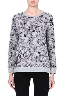 THE KOOPLES SPORT Tiger print sweatshirt