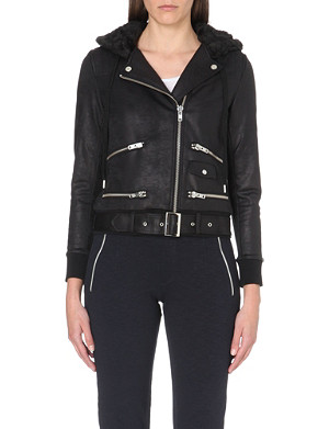 THE KOOPLES SPORT Jersey biker jacket