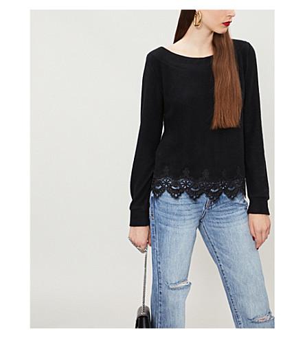THE KOOPLES Cotton-blend lace trim jumper (Bla01
