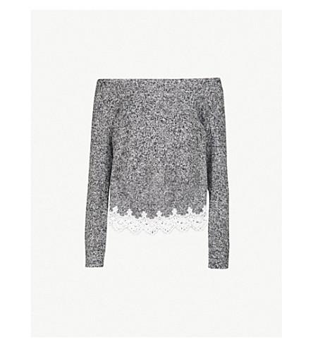 THE KOOPLES Cotton-blend lace trim jumper (Gry23