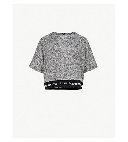 THE KOOPLES Logo-waistband felt T-shirt (Gryd1
