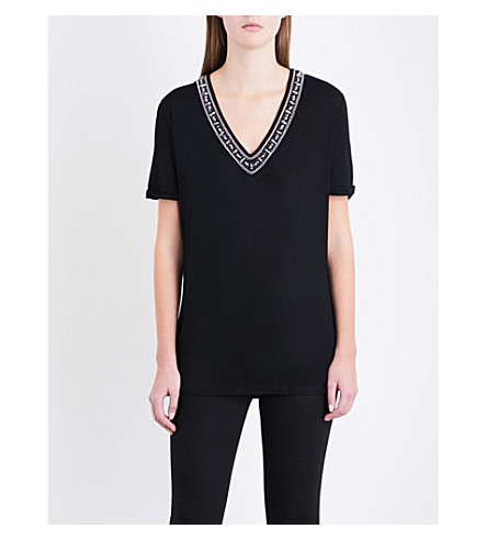 THE KOOPLES Embellished jersey T-shirt (Bla01
