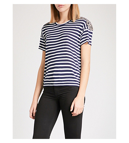 THE KOOPLES Breton embroidered jersey T-shirt (Ecr06