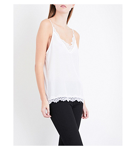 THE KOOPLES Lace silk-satin camisole (Ecr01