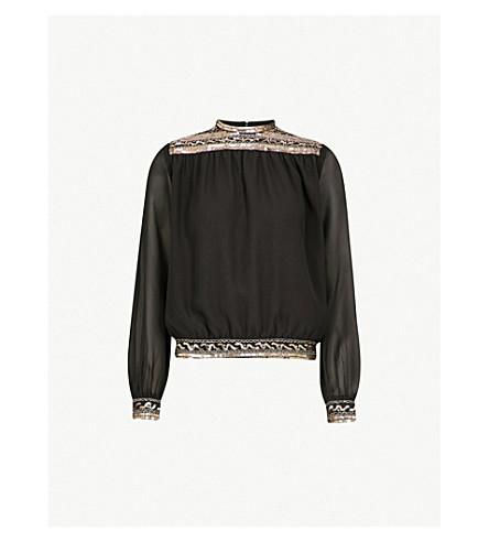 THE KOOPLES Embellished chiffon blouse (Bla01