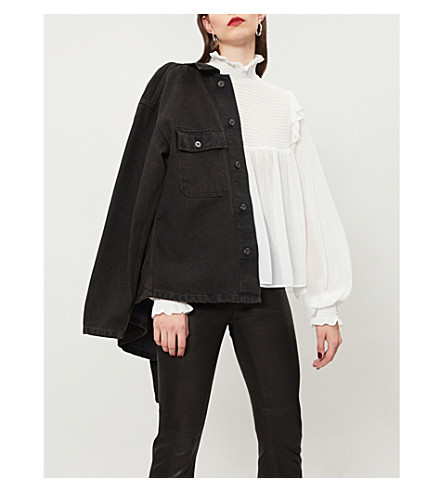 THE KOOPLES Ruffle-trimmed silk blouse (Ecr01