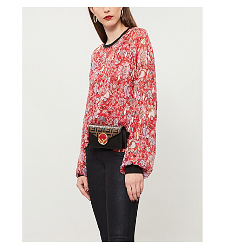 THE KOOPLES Paisley=print silk-blend top (Red01