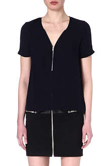 THE KOOPLES Silk zip-detail top