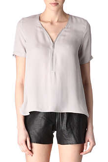 THE KOOPLES Silk zipped top